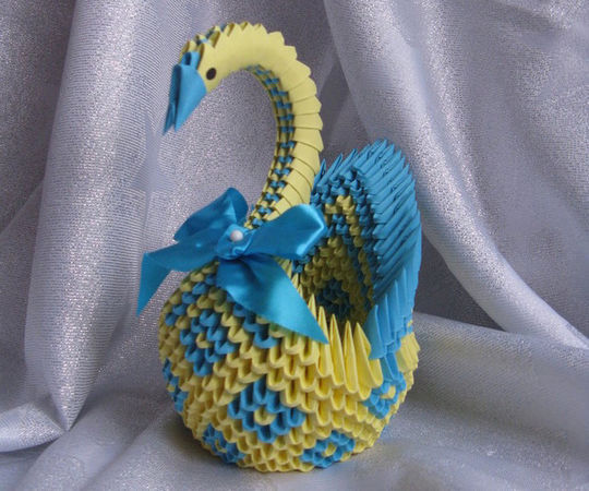 Diamond Patterned Swan