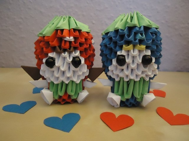3D Origami - Strawberry Girl and Blueberry Boy