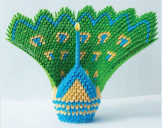 Peacock- Origami