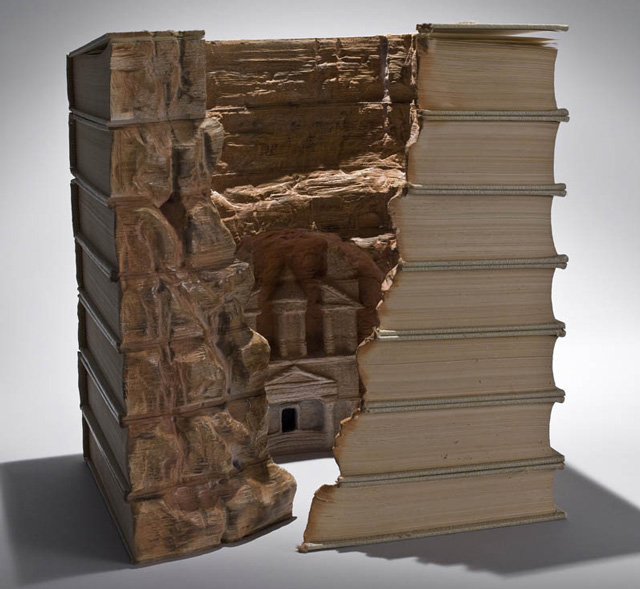 Landscape Carved into Book