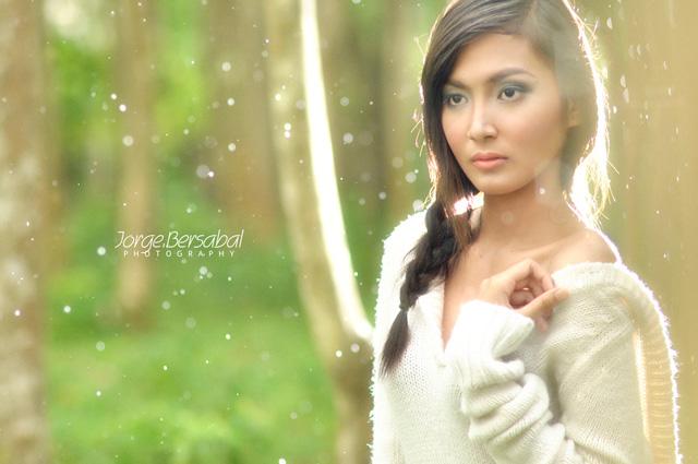 She Gathers Rain Bokeh Photography
