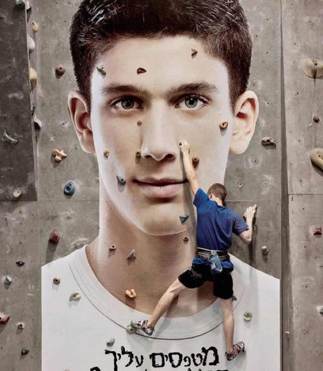 creative advertising Pimple Climbing