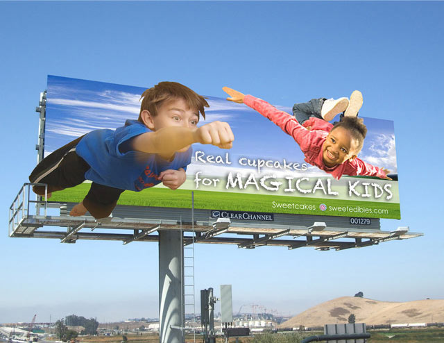 smart billboard design  Real Cup Cakes for Magical Kids