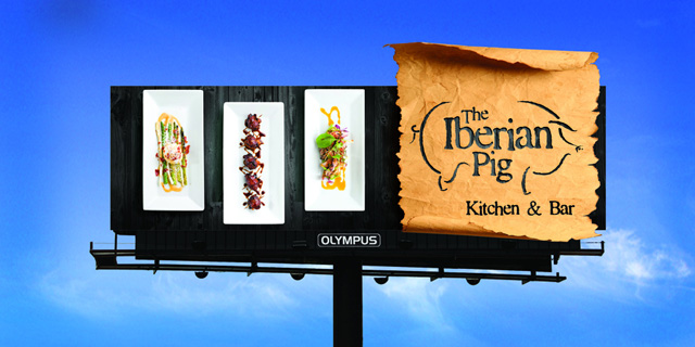smart billboard design  Iberian Pig