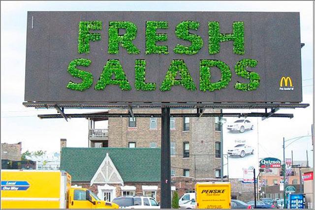 creative advertising Fresh Salad