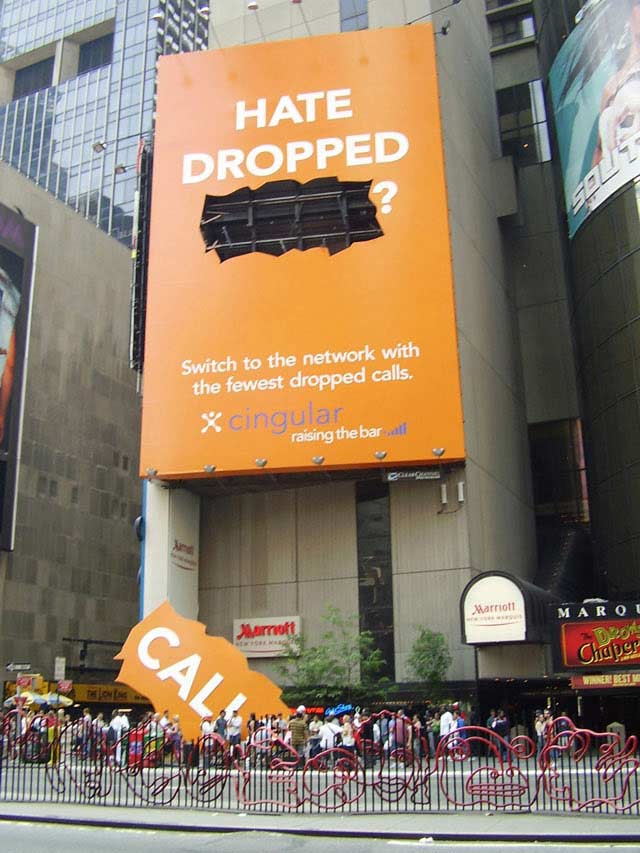creative billboard Hate Dropped Calls?