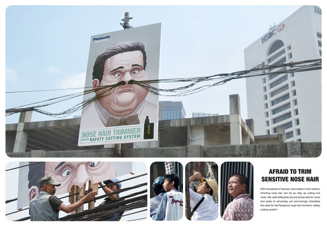 creative advertising Panasonic Nose Trimmer