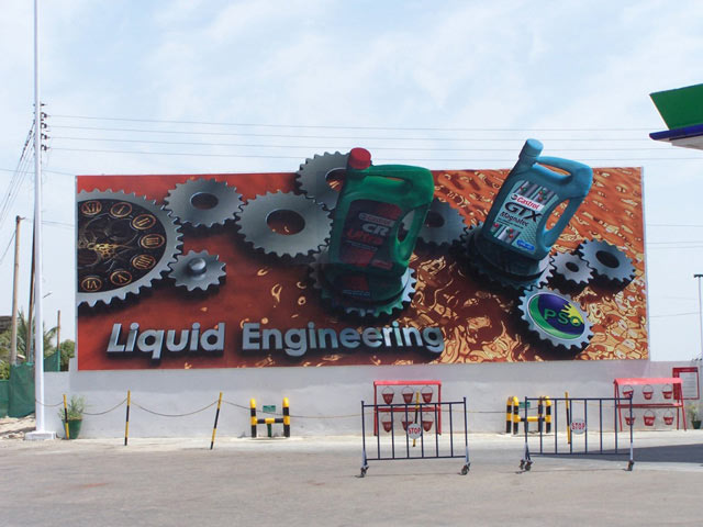 creative advertising Castrol Liquid Engineering