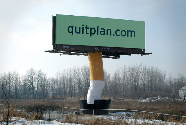 creative advertising Quit Plan