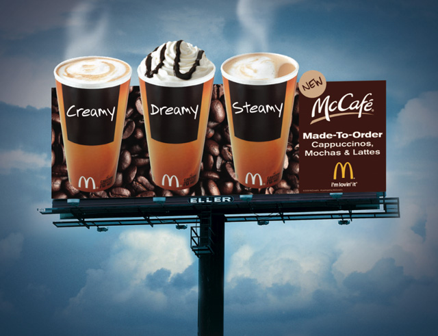 smart billboard design  MCCafe macdonalds