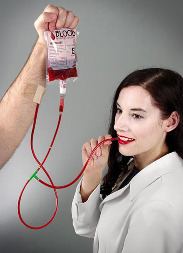 Blood Bag Energy Drink crafted packaging product