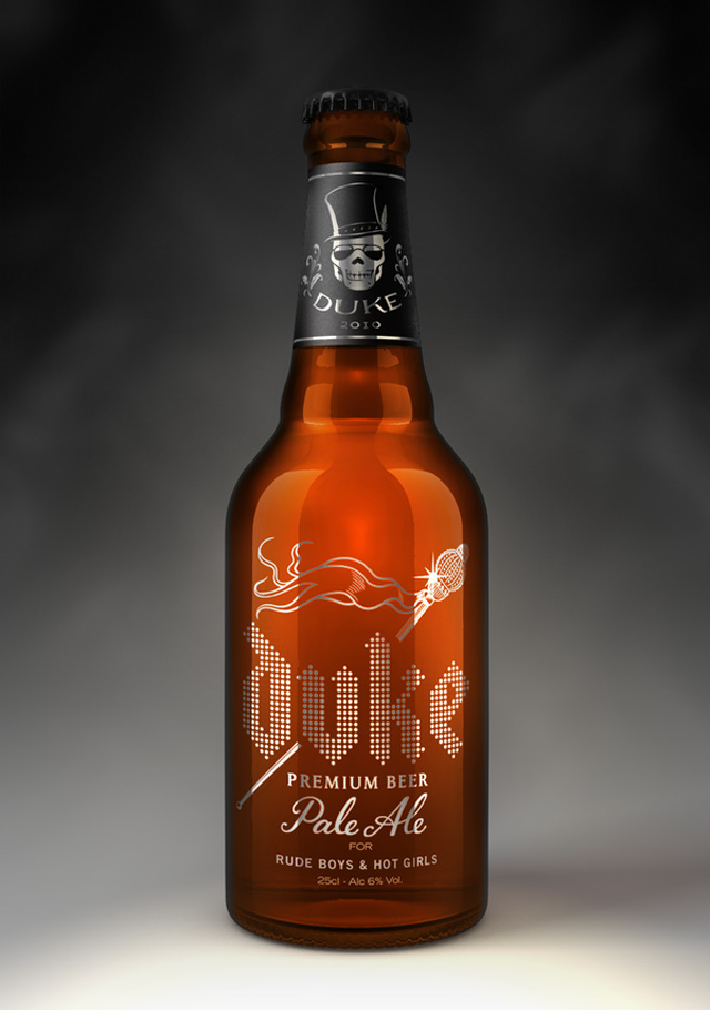 Duke Beer crafted packaging product