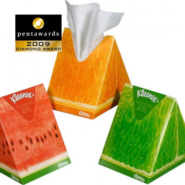 Kleenex beautiful packaging example