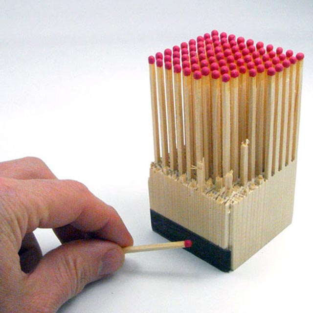 Wooden Matches Block Creative Package Designs