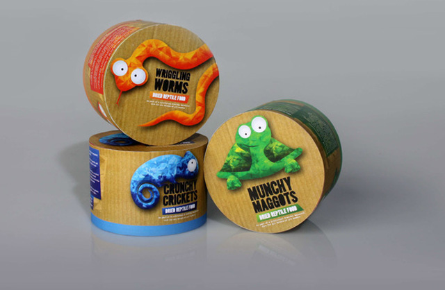 Reptile Food Packing Creative Package Designs