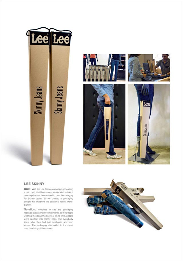 Lee Shiny Jeans crafted packaging product