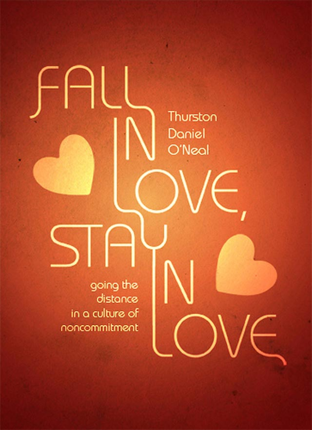 Fall in Love Stay in Love Typographic Book Covers