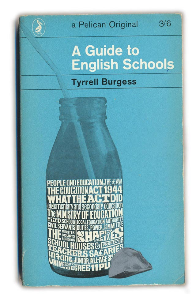 A Guide to English Schools typography in book cover design