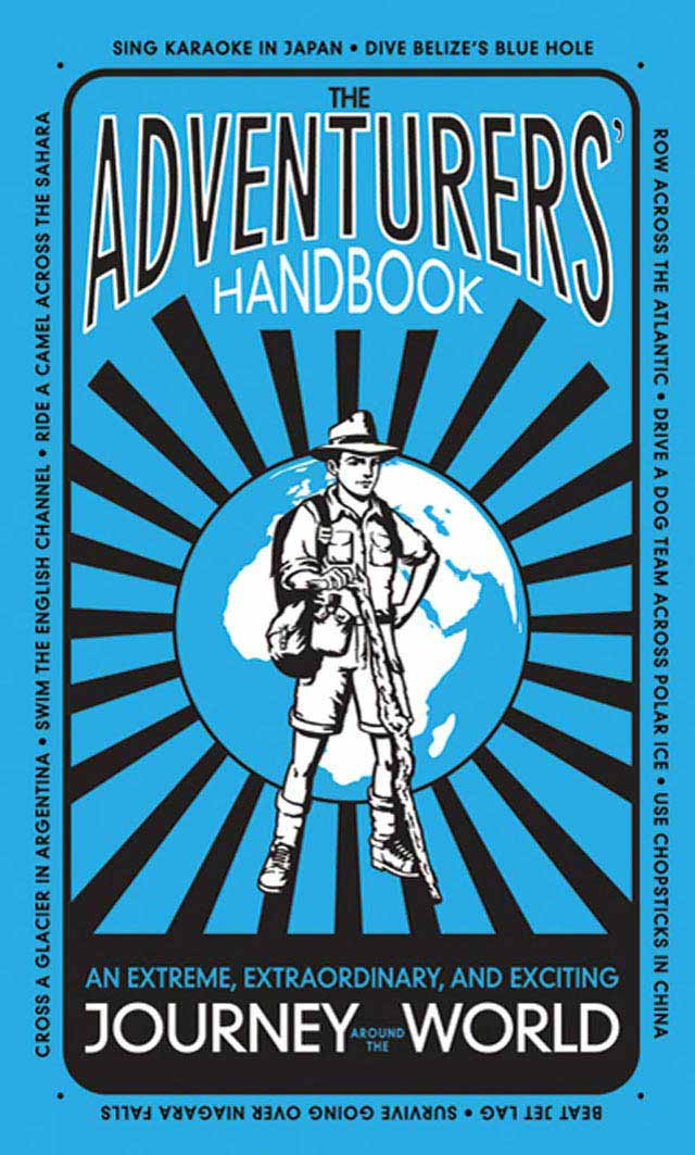 The Adventurers Handbook typography in book cover design