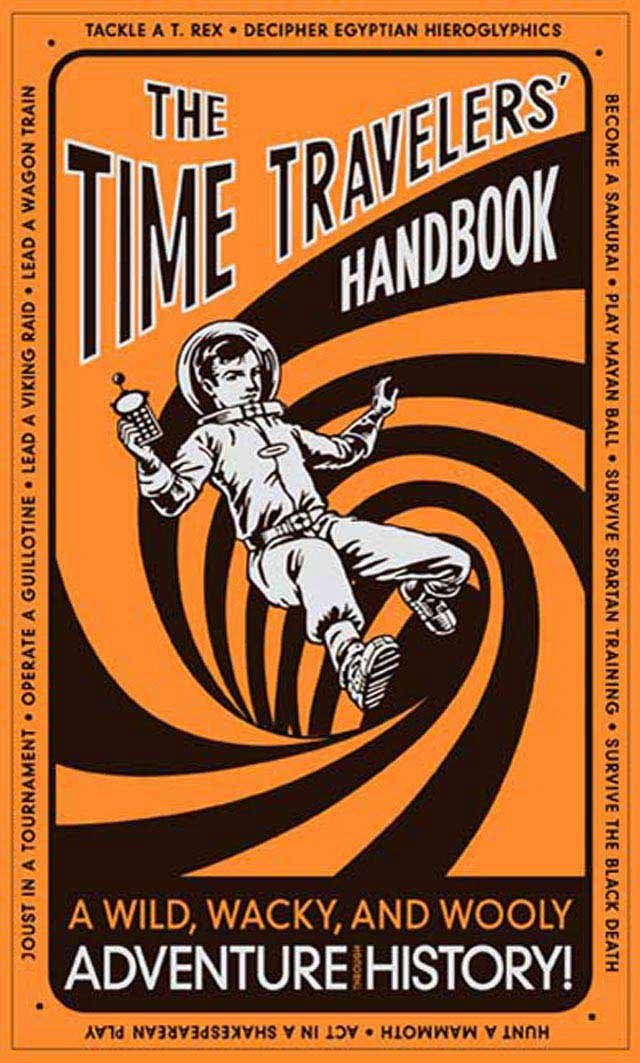 The Time Traveller Hand Book typography in book cover design