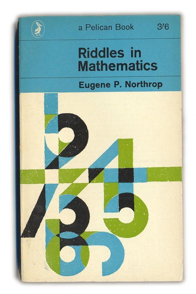 Riddles in Mathematics Typographic Book Covers
