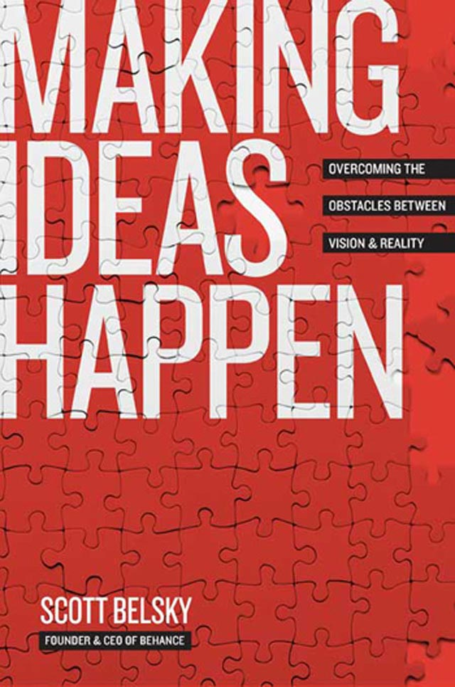 Making Ideas Happen Typographic Book Covers