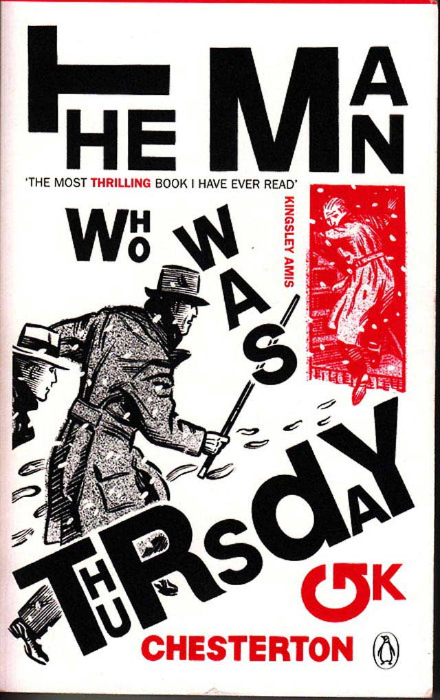 The Man Who Was Thursday typography in book cover design