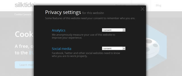 Cookie Consent Privacy Settings
