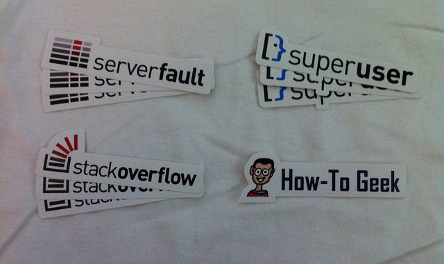 Stack Overflow stickers and logos