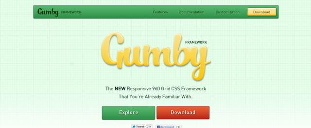Gumby 960 Responsive Grid Framework