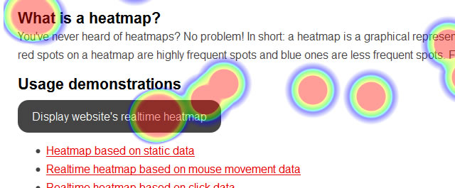 heatmap.js a JavaScript library that can be used to generate web heatmaps