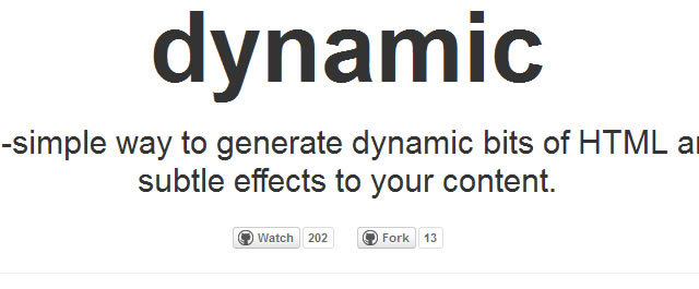 dynamo.js offers a simple method to generate dynamic bits of HTML