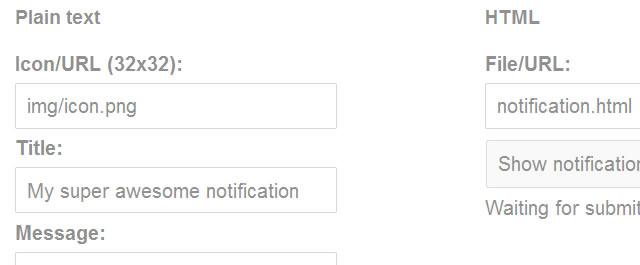 HTML5 Web Notifications