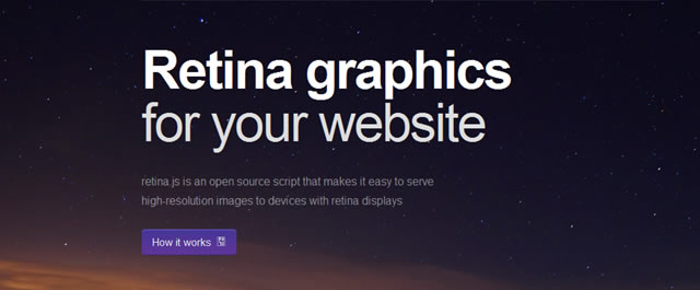 Retina.js is an open-source script that makes it easy to serve high-resolution images