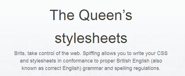 Spiffing CSS