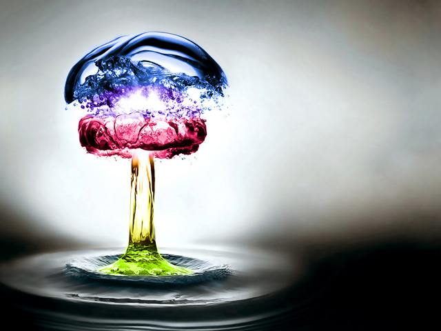 Colored Water Explosion