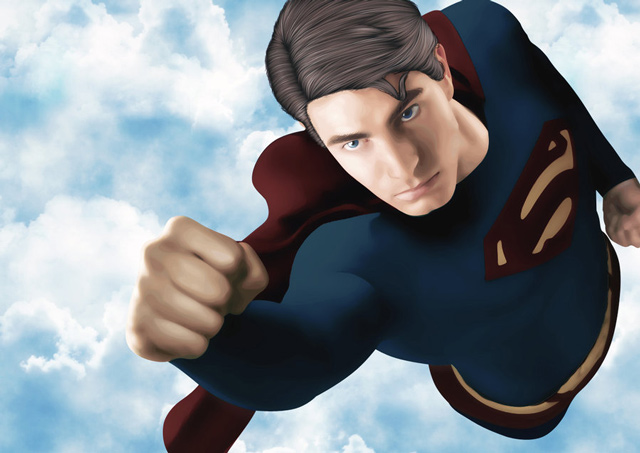 creative inspiring illustration Super Man example