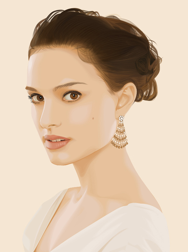 creative inspiring illustration Natalie Portman vexel art example