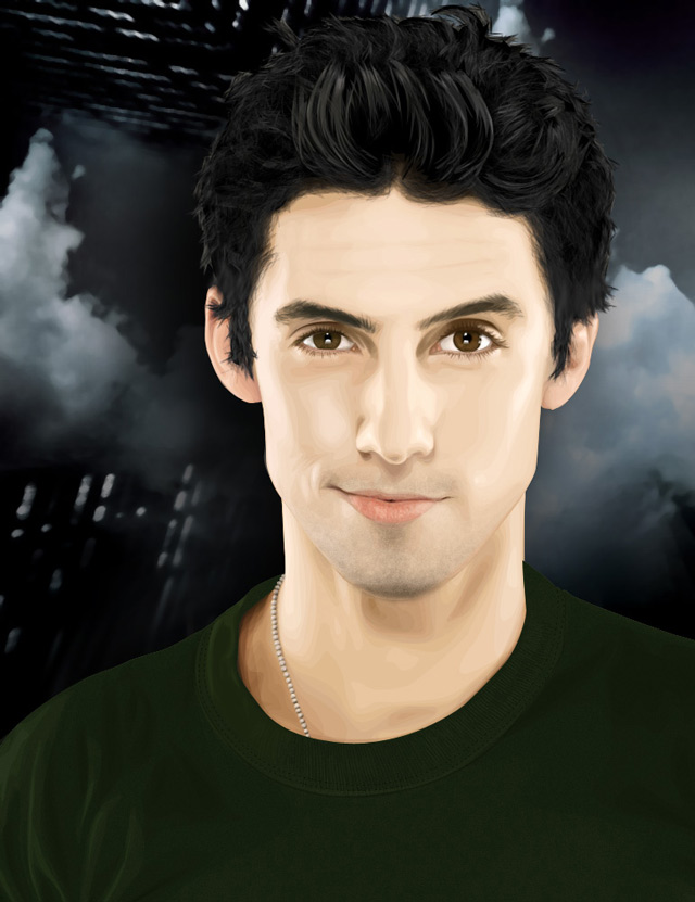 creative inspiring illustration Milo Ventimiglia vexel art example