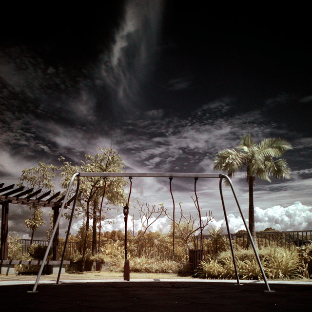 infrared photography Lonely