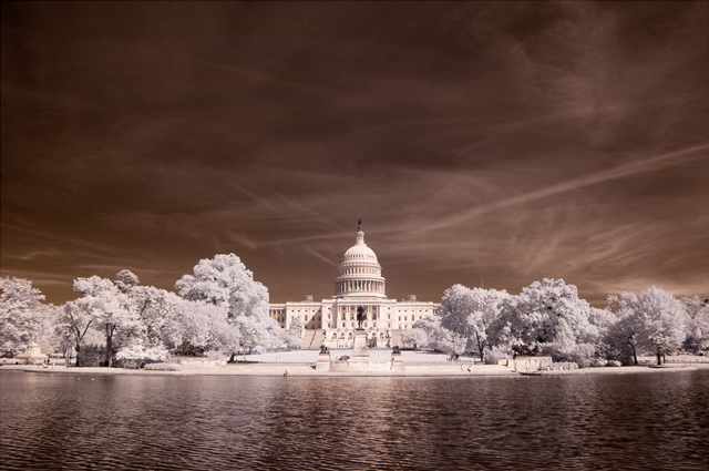 shot infrared U.S. Capitol