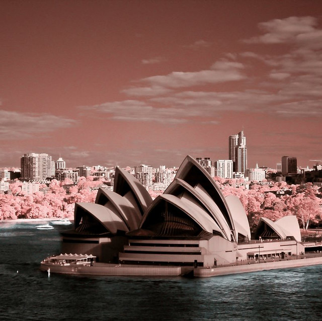 shot infrared Sydney Opera House