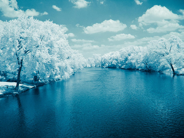 photography Infrared River