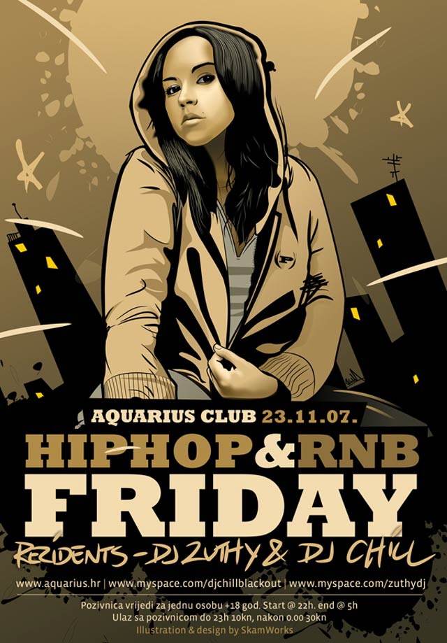 Aquarius Hip Hop and RnB Flyer Flyer