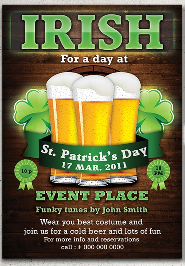 St. Patrick's Party Flyer Template Flyer Flyer