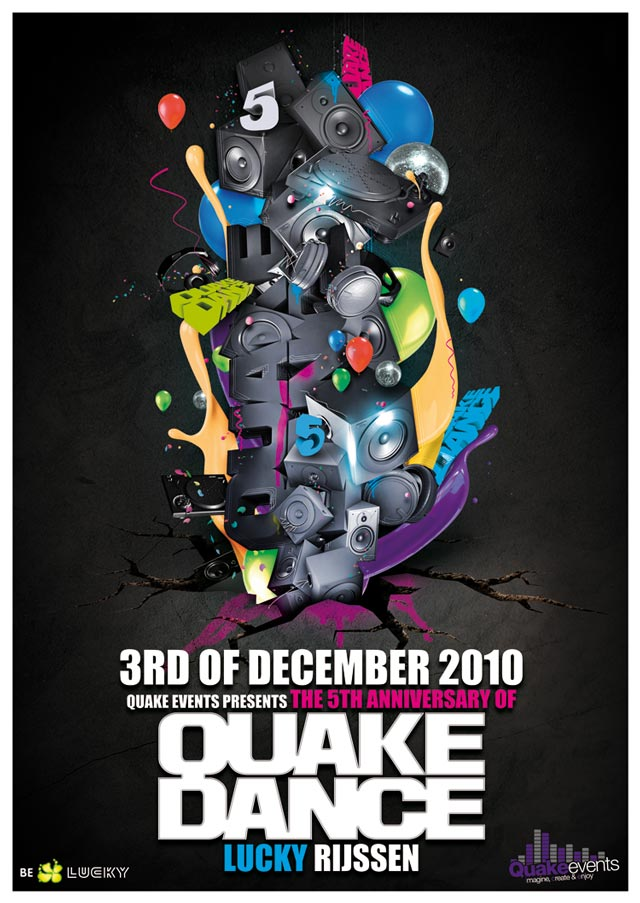 Quake Dance Flyer Flyer