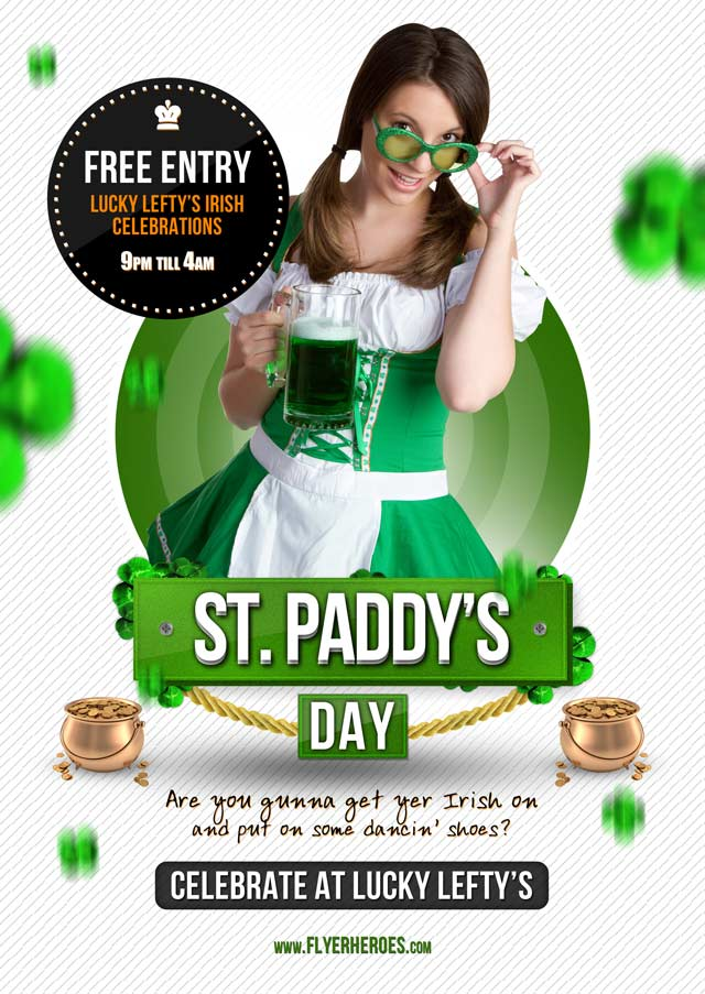 St. Paddy's Day Flyer Template Flyer