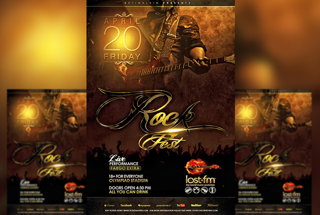 Rock Fest Template Flyer