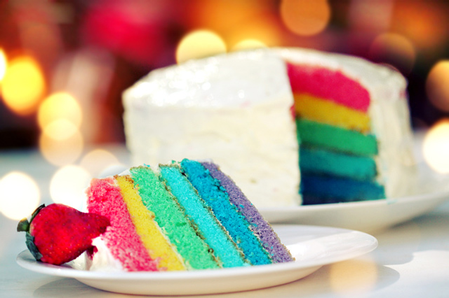 Rainbow Cake example of beautiful still life photography