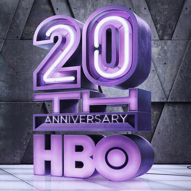 HBO 20th Century advertsing typography